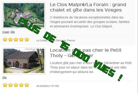 annuaire gite dans les Vosges