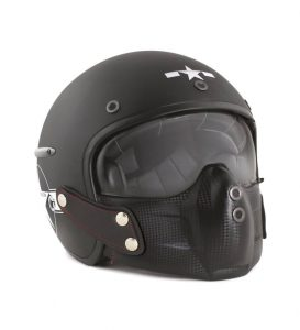 Casque moto pilote de chasse